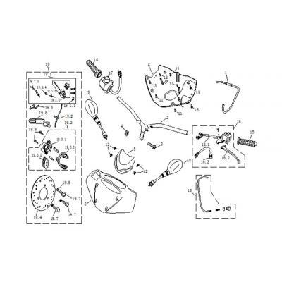 Backspeglar - Bromshandtag - Styre - Strykåpor - Switchar