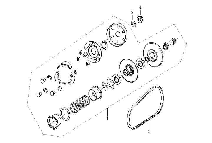 Variatorrem - Bakre variator